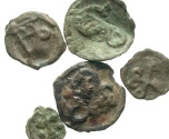 Ancient Coins - [Byzantine]. Lot of five different Æ from the mint at Cherson.