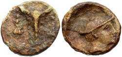Ancient Coins - Thrace, Chersonnesos. Ca. late 3rd century B.C. Lead tessera. VF. Rare and unusual.