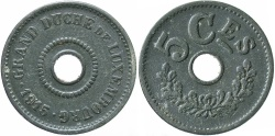 World Coins - Luxembourg. 1915. 5 centimes. EF.
