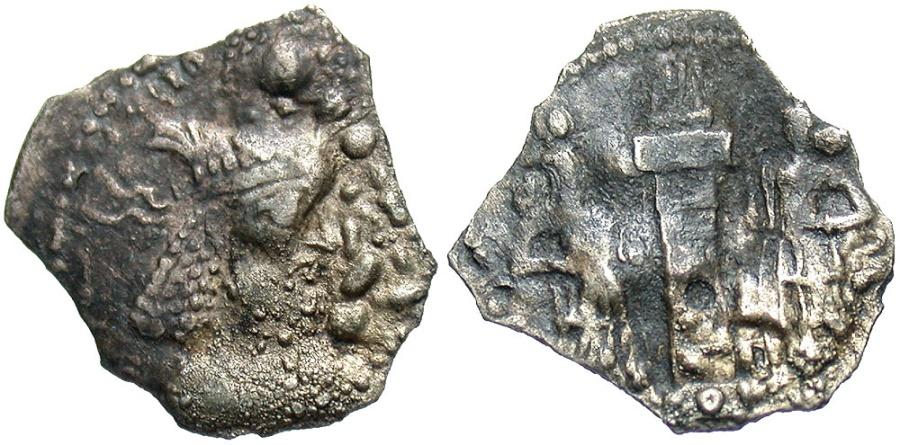 Ancient Coins - Sasanian Kingdom. Narseh. A.D. 293-303. AR obol. Fine.