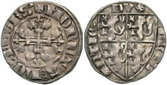 World Coins - Luxembourg, Wenceslaus I. 1353-1383. AR esterling. Ca. 1370. VF.