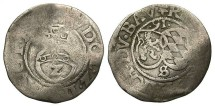 Germany, Pfalz Simmern. Richard. 1591. 1/2 Batzen. Near VF, wavy flan.