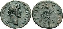 Ancient Coins - Antoninus Pius. A.D. 138-161. AE as. VF.