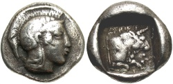 Ancient Coins - Lycian Dynasts. Kherei. Ca. 440/30-410 B.C. AR stater. VF, well centered. Rare.
