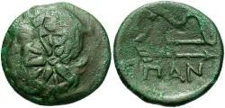 Ancient Coins - Thrace, Pantikapaion. Ca. 275-245 B.C. Æ 21 mm. Fine/VF.