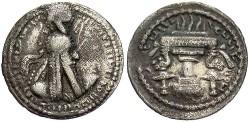 Ancient Coins - Sasanian Kingdom. Ardashir I. A.D. 224-241. AR obol. Toned, near VF.