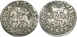 World Coins - Lithuania. Poland. Sigismund III. 1562. 3 Groszen. Ch VF.