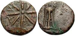 Ancient Coins - Thrace, Pantikapaion, Ca. 4th-3rd Century B.C. AE Dichalkon. VF.