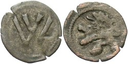 World Coins - Poland, Wroclaw. Wladyslaw II Jagiello. 1471-1516. BI Halerznd. Nearly VF. The only coinage of this ruler.