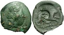 Ancient Coins - Thracian Kingdom. Lysimachos. 323-281 B.C. Æ 21 mm. Fine.