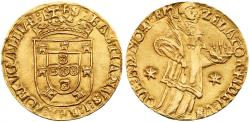 World Coins - Portugal. Joao III, 1521 - 1557. Gold Sao Vincente. Lisbon mint. Very Scarce VF+