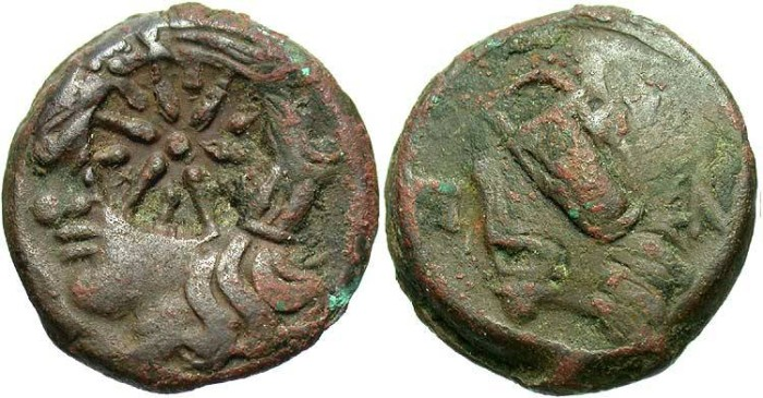 Ancient Coins - Thrace, Pantikapaion. Ca. 265-245 B.C. Æ 22 mm. VF.