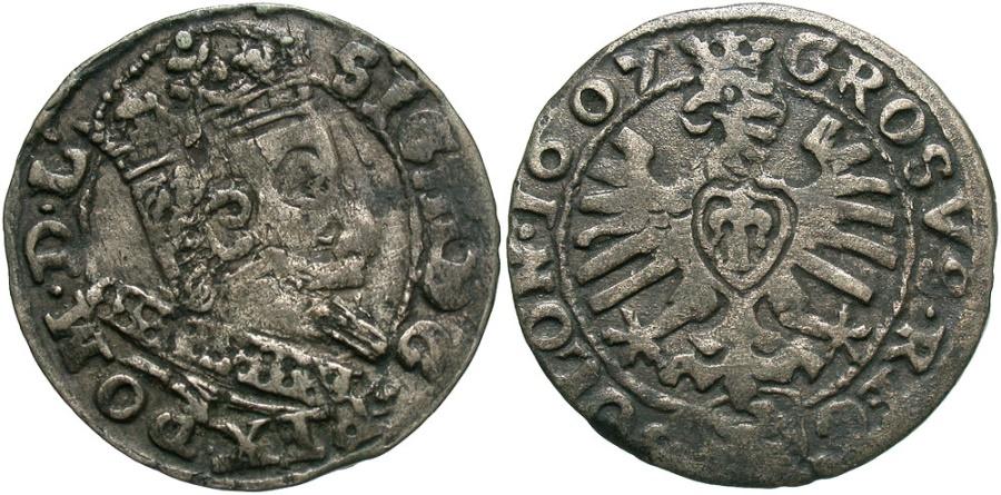 World Coins - Poland. Sigismund III. 1607. AR Grosz. VF, toned.