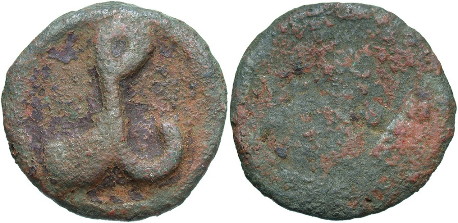Ancient Coins - Constantine VII and Romanus I. 920-944. Æ. Cherson. Fine/Fair, brown patina.