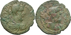 Ancient Coins - Cilicia, Flaviopolis. Macrinus. A.D. 217-218. Æ. Near VF, green patina.