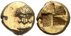 Ancient Coins - Mysia, Kyzikos. Ca. 500-450 B.C. EL 1/12 stater. EF.