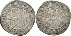 World Coins - Germany, Isny. Maximilian I. 1508. AR Batzen. VF.