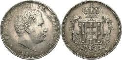 World Coins - Portugal. Carlos I. 1899. AR 1000 Reis. EF.