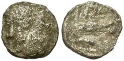 Ancient Coins - Thrace, Istros, Ca. 4th century B.C. AR quarter drachm. near Fine.