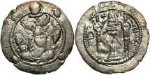 Ancient Coins - Hephthalites, The captivity of Peroz. A.D. 457-483. AR drachm. VF.