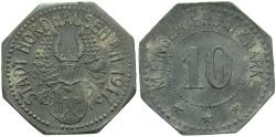 World Coins - Germany (Notgeld), Nordhausen. 1917. 10 pfennig. VF.