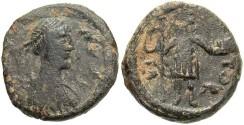 Ancient Coins - Justinian I. A.D. 527-565. Æ pentanummium. Cherson. VF, green patina.