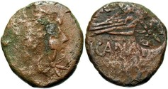 Ancient Coins - Bosporus Kingdom, Asander. 50-47 B.C.. Æ 25 mm. Fine.