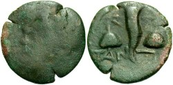 Ancient Coins - Thrace, Pantikapaion. Ca. 135-125 B.C. Æ 22 mm. Fair/Fine.