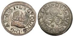World Coins - Austria, Tyrol. Archduke Leopold. 1619-1632. Billon 3 Kreuzer. Toned VF.