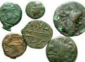 Ancient Coins - [Greek] Lot of six Æ from Pantikapaion in Thrace. Average Fine to VF