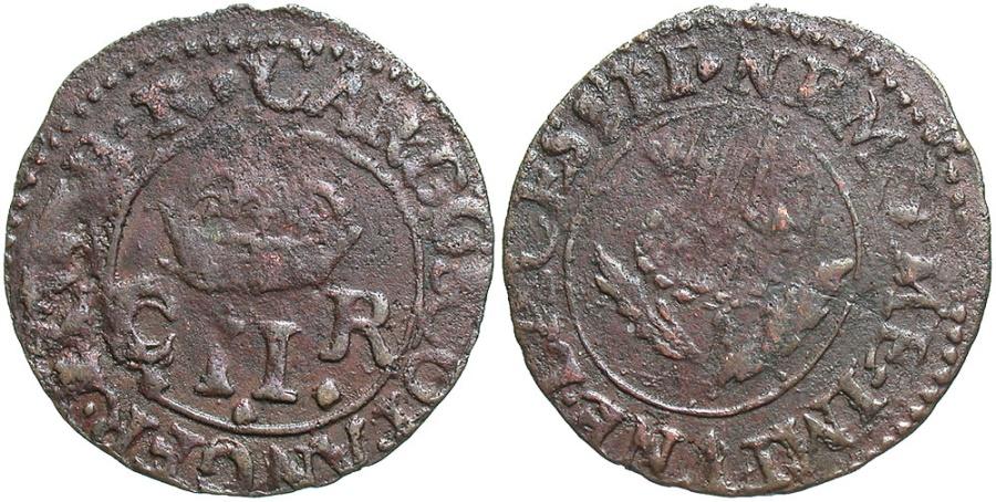 World Coins - Scotland. Charles II. 1649-1685. Æ Turner. Earl of Sterling coinage, 1632-1639. Initial marks: lozenge-lozenge. VF.