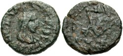 Ancient Coins - Bosporan Kingdom. Rhescouporis IV. A.D. 242-277. Æ 19 mm. Near VF, dark green patina. Rare.