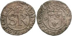 World Coins - Sweden. Sigismund III. 1598. BI Solidus. VF, flan crack and light corrosion. Rare.