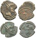 Ancient Coins - [Roman Imperial]. Lot of two 'barbarous' radiate struck from the same pair of dies.