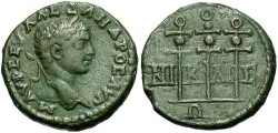 Ancient Coins - Bithynia, Nicaea. Severus Alexander. A.D. 222-235. Æ 21 mm. VF, green and brown patina.