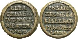 World Coins - Spain, Castile. Juan de Herrera Bachillor. Ca. 1550-1610. Æ Medal. VF, a nice family medal.