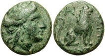 Ancient Coins - Thrace, Lysimachia. Ca. 3rd century B.C. Æ 18 mm. Choice VF, nice green patina.