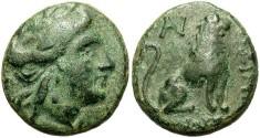 Ancient Coins - Thrace, Lysimachia. Ca. 3rd century B.C. Æ 18 mm. Choice VF, nice green patina.