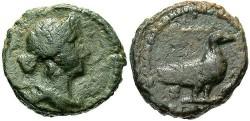 Ancient Coins - Time of Domitian to Antoninus Pius. Ca. A.D. 81-161. Æ quadrans. Near VF.