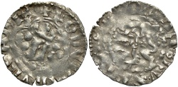 World Coins - Poland. Ludovicus of Hungary. 1370-1382. AR quartnik. Lemberg. VF, extremely rare.