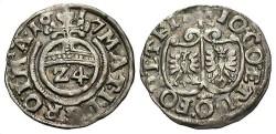 World Coins - Germany, Ritberg. Johann III v. Ostfriesland. 1617. 1/24 Thaler. Toned VF.
