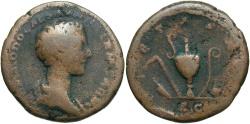 Ancient Coins - Commodus. As Caesar, A.D. 166-177. Æ as. Rome, under Maruc Aurelius, ca. A.D. 176/7. Fine, brown patina.