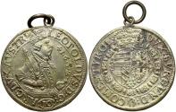 World Coins - Austria. Leopold. 1632. 10 kreuzer. VF, with modern loop. One-year type.