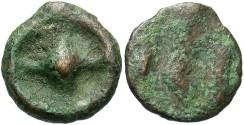 Ancient Coins - Moesia, Istros. Late 5th century B.C. Æ 12 mm. Good Fine.
