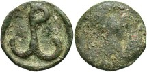 Ancient Coins - Constantine VII and Romanus I. A.D. 920-944. Æ follis. Cherson. Fair/Fine.