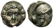 Ancient Coins - Pisidia, Selge. Ca. 3rd century B.C. AR trihemiobol. Good VF.