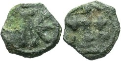 Ancient Coins - Leo VI. 886-912. Æ 17 mm. Cherson. VF, green patina.