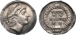 Ancient Coins - Constantius II, AD 337-361. Silver Siliqua (3.24g). Mint of Antioch, struck AD 337-347.