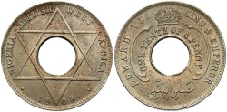 World Coins - British West Africa. 1908. 1/10 Penny. Unc.