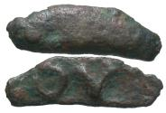 Ancient Coins - Skythia, Olbia. Ca. 437-410 B.C. Cast '. Near VF, brown patina.